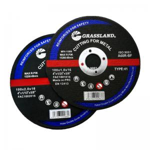 Quality 24# Grit Abrasive Metal 100x1.2x16mm Inox Cutting Discs For Stainless Steel wholesale