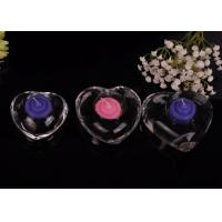 Quality High White Transparent glass tealight candle holders for wedding centerpieces , Heart Shape wholesale