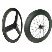 Quality Glossy 700C Rear 88mm Track Wheels Light  Weight Anti PullWith Full Carbon Fiber wholesale