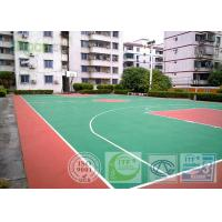 China Recycled Multi Sport Court Flooring , Outdoor Basketball Court Tiles Acrylic Paint on sale