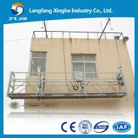 China high rise roof suspended platform, zlp mast climbing work platform, zlp800 steel structure on sale