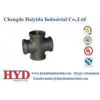 Cross black malleable iron pipe fitting cast iron UL factory
