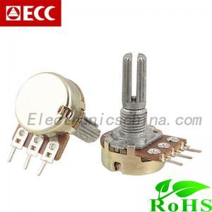 China Horizontal terminal Dimming Light single Linear Rotary Potentiometer (R1612N-D) on sale