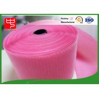 Quality Custom Color Wide hook and loop Hook & Loop Fastening Tape 100% Nylon Light Pink wholesale