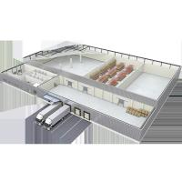 China Huge Frozen Chill Blast Industry Modular Cold Storage  With Sustainable Continuous PUR PIR Insulated Sandwich Panel on sale