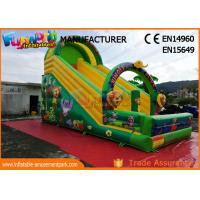 Quality Printed Inflatable Jungle Slide / Commercial Inflatable Bounce House wholesale
