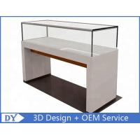 Cheap 1200X550X950MM Wooden Glass Jewelry Counter Display Cases With Locks for sale