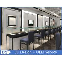 Cheap Customized Jewelry Display Cases With S/S + wooden + glass Material for sale