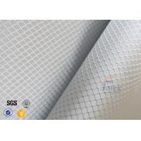 Buy cheap 220g 0.2mm Checked Aluminized Fiberglass Cloth For Decoration product