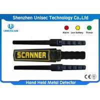 Quality Adjustable Sensitivity Hand Held Metal Detector 40KHz Frequency For Security Check wholesale