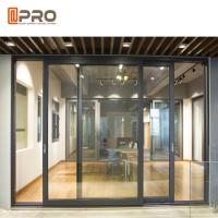 Quality Powder Coated Aluminium Sliding Glass Doors For Construction Buildings interior door sliding door frame wholesale