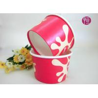 Buy cheap Customize 8oz PE Coated Disposable Ice Cream Bowl With Dome Lid from wholesalers