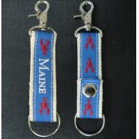 Quality Custom embroidered key chains, embroidery logo two side for promotion and gift wholesale