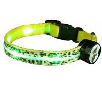 Quality PU Leather LED Dog Collar (Yellow) wholesale