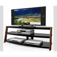 Buy cheap Wooden TV Media Stand HA-883W Black Powder Coated Metal Solid Wood Leg , TV from wholesalers
