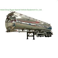 China Aluminum Alloy Fuel Tank Semi Trailer 45000L ~50000L With Air Bag Suspension on sale