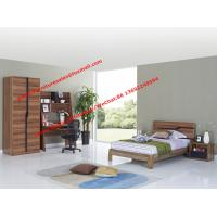 Quality Children School bedroom furniture suite by double size bed and bookcase sets in MDF melamine wholesale