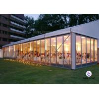 Buy cheap Glass Sidewall Aluminium Frame Tent Fashionable Style 500-700 People Capacity from wholesalers