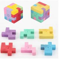 Cheap Rubber Eraser, Promotional Fancy Puzzle 3D Shaped Eraser for sale