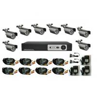 Quality CCTV Security System 8CH H.264 Digital Video Recorder Kits, 8pcs Waterproof Bullet Cameras wholesale