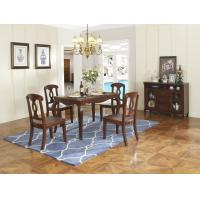 Cheap Rubber Wood Home dining room furniture Long and round dining table with 4/6 for sale