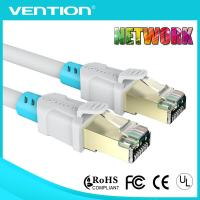 China White Bule Cat6a 5m Patch Cord Cable for Computer RJ45 Twisted Pair Double Shielded PVC Jacket on sale