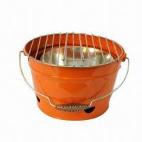 Quality Charcoal Barbecue Grill with 0.7/0.5mm Steel Plate Thickness, Measures Ø35.5cm wholesale
