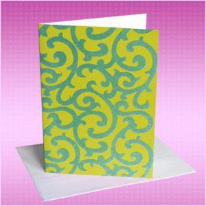 Cheap Christmas Custom Design Plastic PVC Flocking Velvet Cards with ISO standard for sale