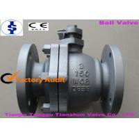 Quality Electric / Pneumatic Operated DN150 WCB Cast Steel Ball Valve With Handle wholesale