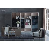 Quality Cheap Apartment room Fashion Home office Furniture Study Computer Reading table and Glass door bookcase with wood Shelve wholesale