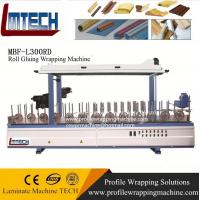 Cheap PVC film profile wrapping machine for sliding door/ moved door for sale