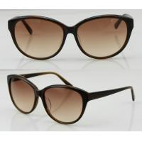 Quality Women Brown Full Rim Acetate Frame Sunglasses With Polarized Lens wholesale