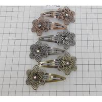 Quality 5cm snap clip with a metal flower in antique colors wholesale