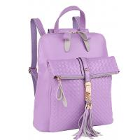 Quality Wholesale Womens Knitting Leather Backpack Purse with Edging wholesale