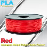 Quality Custom Solid  Red PLA Filamente 1.75mm / 3mm 3D Extruding Material wholesale
