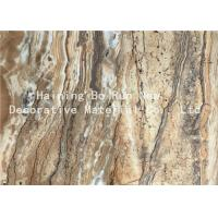 Quality Dark Color PET Heat Transfer Foil Faux Marble Roll For PS Material Board wholesale