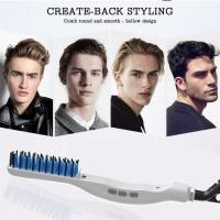 Quality Newest Electric Men hair styler straightening brush portable Beard straightener personalized hair comb online wholesale
