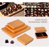 China Customized Chocolate Packaging Boxes / PVC Window Square Shape Box on sale
