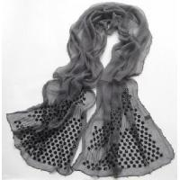 China New Design Lady′s Embroidered with Handwork Silk Scarf  (5W-1530) on sale