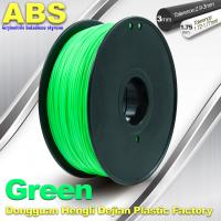 Quality Customized Green1.75mm / 3.0mm 1.0KgG / roll ABS 3D Printer Filament wholesale