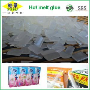 Quality EVA Resin Hot Melt Adhesive / Book Binding Adhesive Glue For Straw Drinking Box wholesale