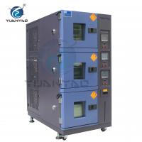 Quality Custom 3 Layer Temperature Humidity Environmental Test Chamber With LCD Touch Screen Controller wholesale