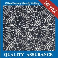 China Hot selling 100% nylon floral lace fabric for evening dresses;new arrival floral lace fabric;fine floral lace fabric on sale