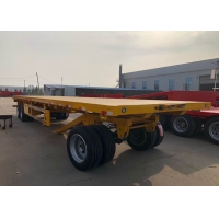Quality 3 Axles Flatbed Cargo Full Trailer Carrying 40 Tons Bulk Cargo wholesale