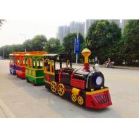 Quality Colorful Painting Shopping Mall Train , FRP Material Trackless Train Ride wholesale