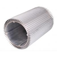 China Round Aluminum Alloy Extrusion Heat Sink Silvery For Motorcycle on sale