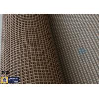 Quality PTFE Coated Fiberglass Mesh Fabric 4X4MM Conveyor Belt 260℃ Heat Resistant wholesale