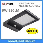 Quality 48LED 850LM PIR Solar Sensor Wall Light With 4400mAh Li-ion Battery Black Lampshade For Road Garden Yard Illuminating wholesale