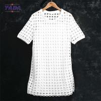 China Elegant fashion 2 pieces wholesale pattern simple and elegant cotton loose white dress made in China on sale
