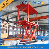 Quality 3T+3T Double Deck Hydraulic Scissor Car Garage Lift For Basement With CE SGS TUV wholesale